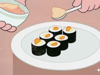김밥 위에 명란